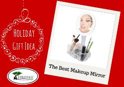 7x Magnified Lighted Makeup Mirror and Tray