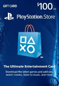 a $100 PlayStation Store Card