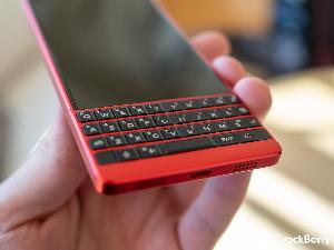 a BlackBerry KEY2 Red Editio