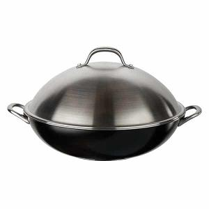 a Circulon® Ultimum 13.75″ Covered Wok with Stainless Steel Lid, MSRP: $100, US only.
