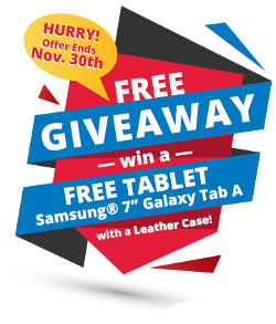 a FREE Samsung® Tablet from DelmarvaVOIP