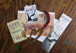 A heartbeat themed prize pack from Amber Elby