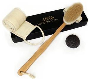 a Loofah Back Scrubber & Body Brush