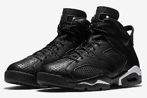 a Pair of Nike Air Jordan 6 Retro Black Cat Sneakers ($280)