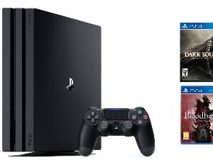 A PS4 Pro with few games.