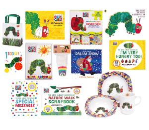 a set of The Very Hungry Caterpillar goodies