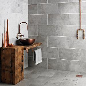 A wetroom worth £2,500 from Topps Tiles!