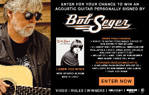 acoustic guitar signed by Bob Seger