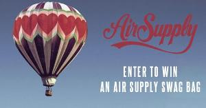 Air Supply swag giveaway