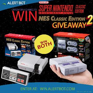 AlertBot NES Classic and SNES Classic Giveaway TWO!