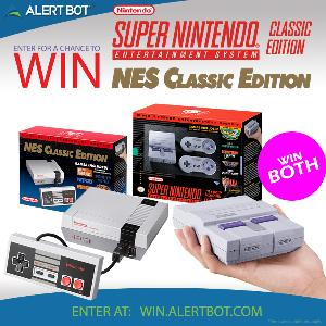 AlertBot NES Classic and SNES Classic Prize Pack!
