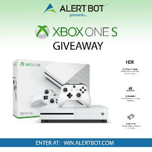"""AlertBot """"Xbox One S"""" Console Giveaway!"""