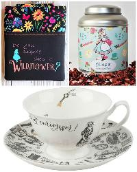 Alice in Wonderland Book Sleeve, Tea and Cup & Saucer Giveaway