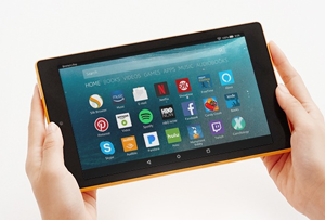 Amazon Fire 7 Tablet Dude Shopping