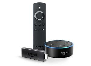 Amazon Fire TV Stick with Alexa Voice Remote + Echo Dot
