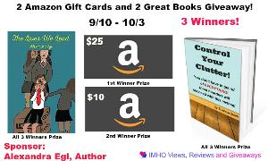 Amazon Gift Cards & Books Giveaway