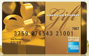 American Express $2,000 gift card ""