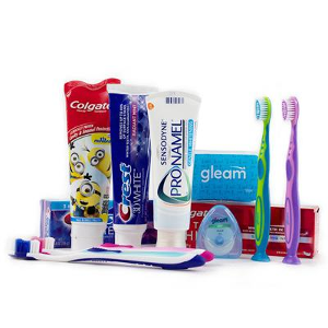 an Entire Year's Worth of Toothbrushes, Toothpaste, and Floss for the Whole Family