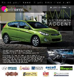 An vibrant green 2013 Hyundai Accent