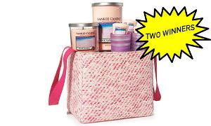 ankee Candle Pinks Sand Tote Gift Set