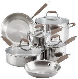 Anolon Tri-Ply Stainless Steel 10-Piece Cookware Set Giveaway""