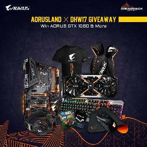 AORUSLAND - DreamHack Winter2017 Giveaway