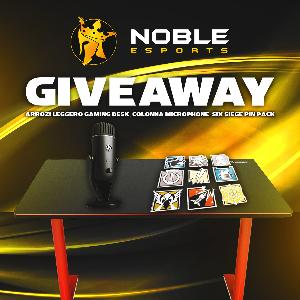 Arozzi Gaming Desk, Colonna Mic, & Six Siege Pin Pack Giveaway