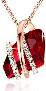Authentic Swarovski Elements Crystal Ruby Red Necklace
