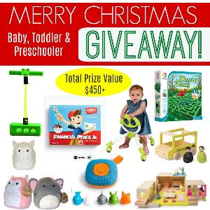Awesome Baby, Toddler, and Preschool Christmas Prize Pack