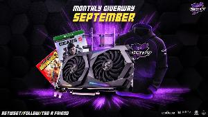 Awesome prize pack includes Graphics Card, Games, Monitor Mount, and Swag