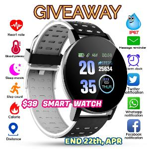 Awesome Sport Fitness Smart Watch Giveaway