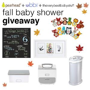 fall baby shower giveaway win 400 of ubbi pearhead baby gear