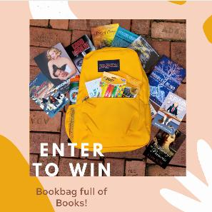 Back to School Book Bag Giveaway ~ Win a JANSPORT bookbag with school essentials and a big stacks of books