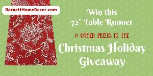 Barnett Home Decor Christmas Holiday Giveaway