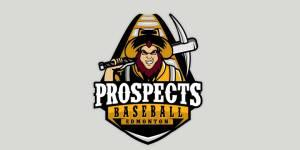 baseball logo for the edmonton prospects