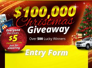 Be Forward $100000 Christmas Giveaway
