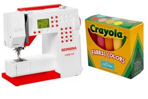 BERNINA 215 Sewing Machine and Riley Blake Fabric