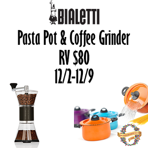 Bialetti Pasta Pot & Coffee Grinder