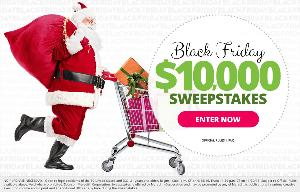 Black Friday Sweepstakes worth $10,000 Cash!