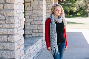 Blaire Reversible Cable Scarf: Universal Yarn Giveaway