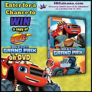 Blaze and the Monster Machines: Axle City Grand Prix DVD Giveaway