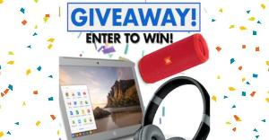 Bluetooth Express Chromebook, Speaker, Headphone Set Giveaway!