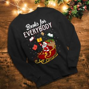 Book Lover Ugly Christmas Sweatshirt from Nerrrdy