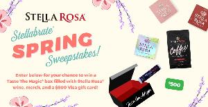 box sourrounded by 500 and stella rosa merchandise