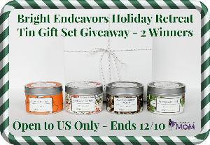 Bright Endeavors Holiday Gift Soy Candle Giveaway.