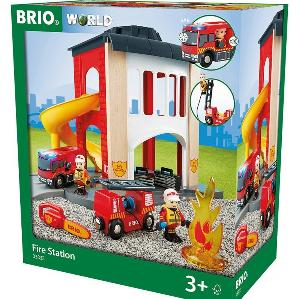 BRIO wooden firestation play set