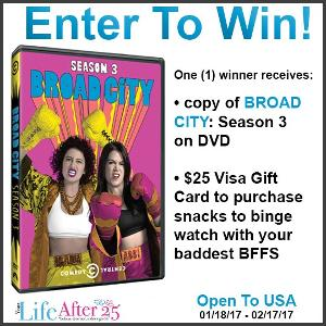 Broad City Season 3 DVD Prize Pack Giveaway