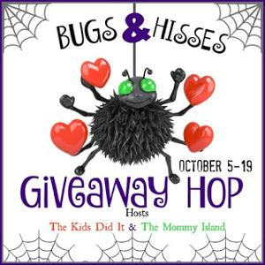 Bugs & Hisses Blog Hop button