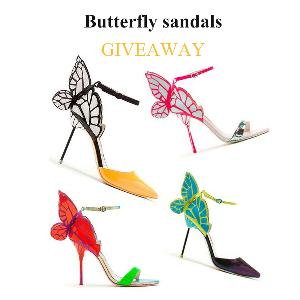 butterfly sandals giveaway