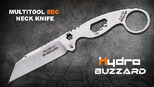 Buzzard is the first EDC neck knife designed by Hydra, a new born knife-maker from Spain.